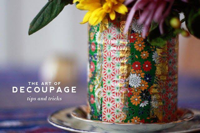Decoupage: No Fail Tips and Tricks - Aunt Peaches