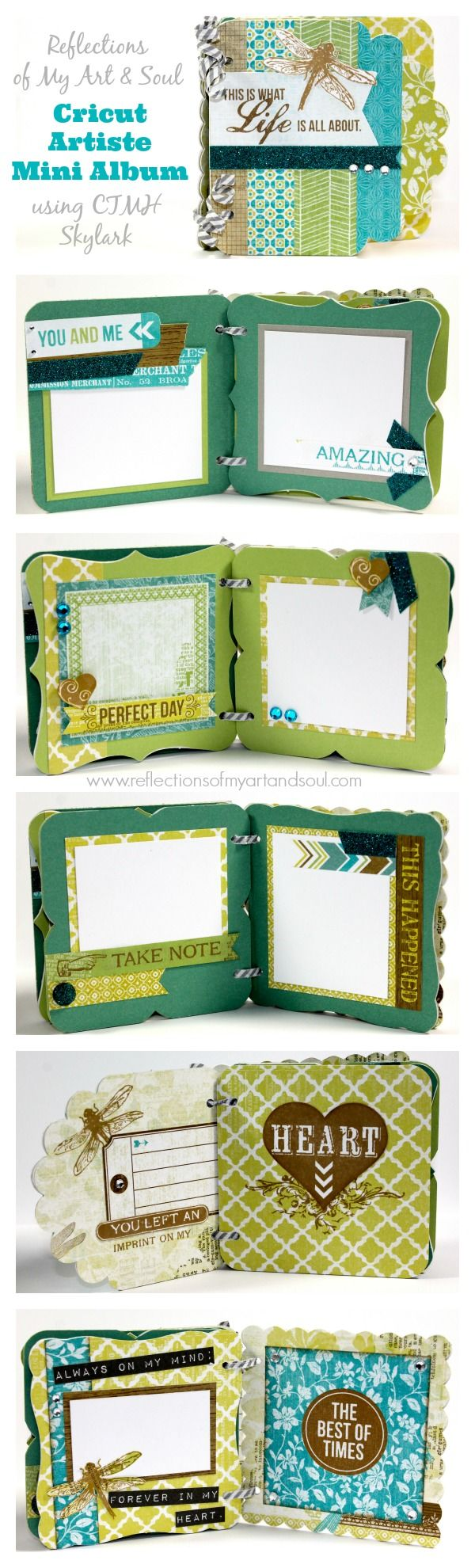 My special gift to you when you place a qualifying order TODAY 7/12! #Cricut Artiste Mini Album using #CTMH Skylark by Pamela O'Connor at www.reflectionsofmyartandsoul.com