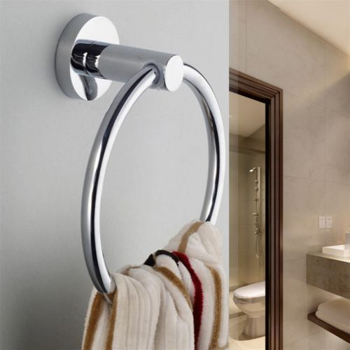 Chrome-Wall-Mounted-Towel-Ring-Hand-Towel-Holder-Bathroom-Accessories