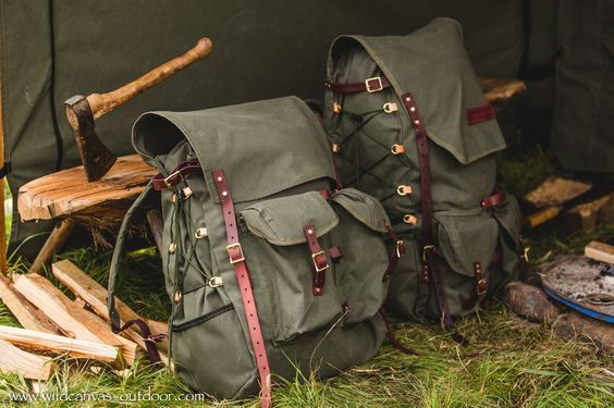 The Ultimate Bushcraft Pack and Basic Bushcraft Pack Side View