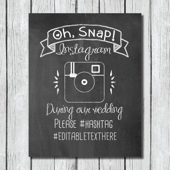 Hey, I found this really awesome Etsy listing at https://www.etsy.com/listing/188997948/chalkboard-wedding-sign-instagram-diy