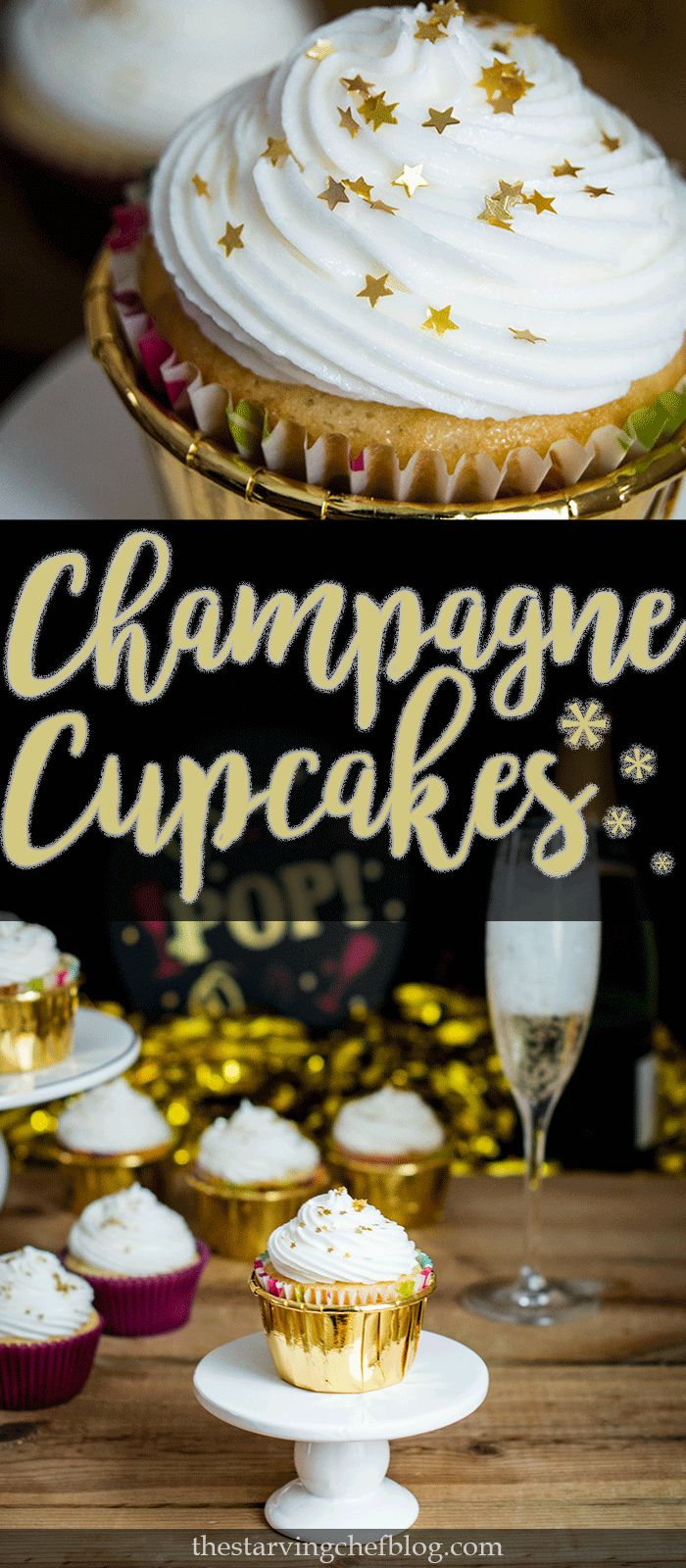 The Starving Chef | Delicious champagne cupcakes - perfect for any celebration.