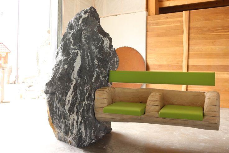 gartenbank aus stein rustikale gartenbank sorgt f r einmaliges exterieur gartenbank stein. Black Bedroom Furniture Sets. Home Design Ideas