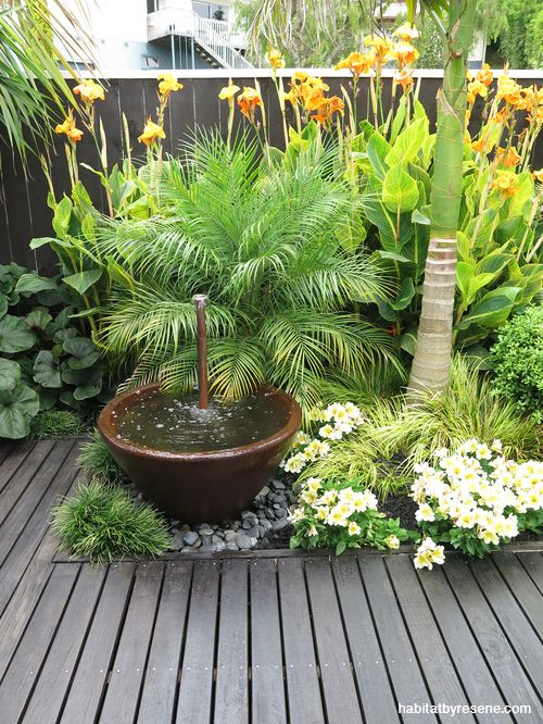 Sandra and John have created a private oasis in their garden, with a seating area, shaded dining table, a spa and lush gardens. The boundary fences are finis...