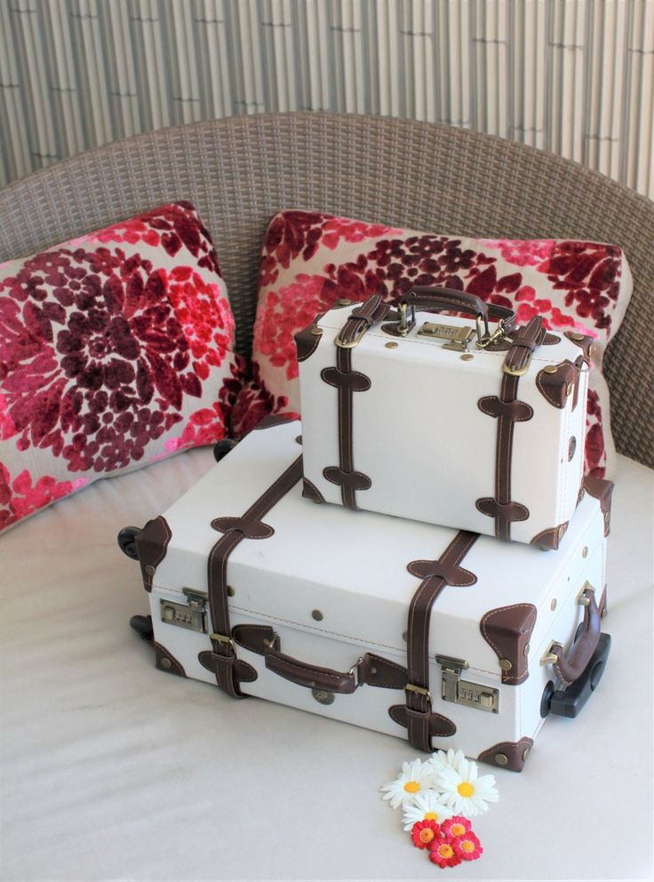 Lightweight vintage suitcases for your world travels!