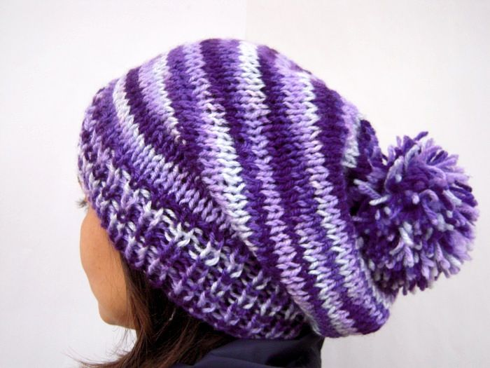 Its a beautiful knitting hat-beanie, so soft, a perfect accessory for the winter. I knit it with multi acrylic yarn in purple, light purple and light blue color. At the top of the beanie I have made a beautiful bom-bom, it so cute. Material : Acrylic yarn Size approximate length 13,38 inches (34cm) including pom-pom …