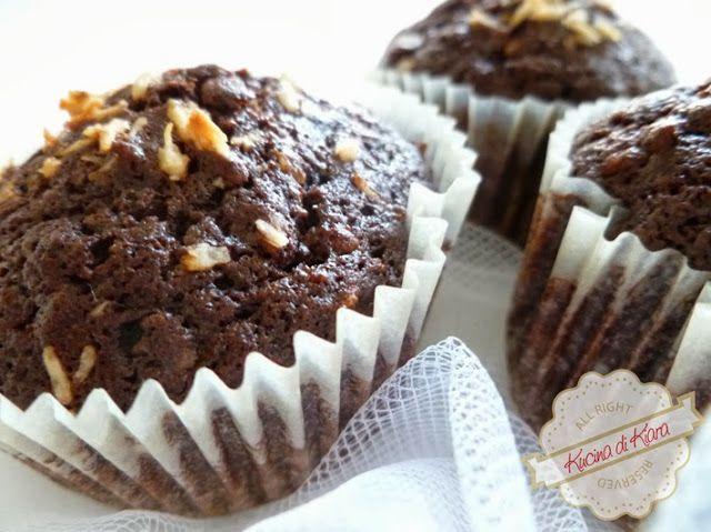 Muffin al doppio cioccolato e cocco
