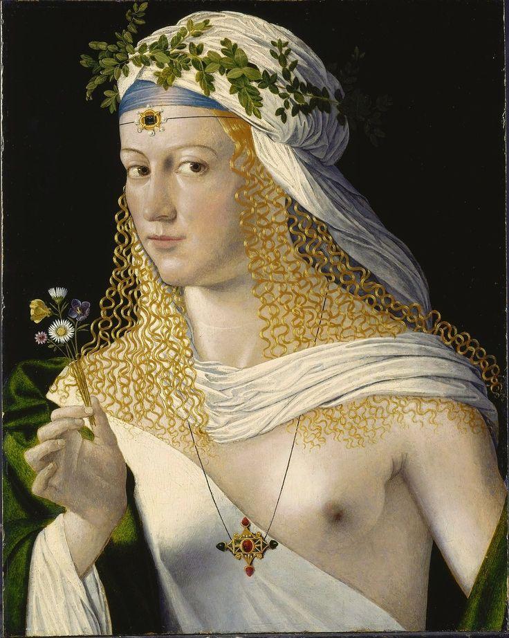 Бартоломео Венето (1470-1531). Рortrait Лукреции Борджиа.