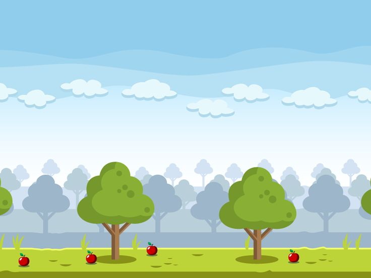 Apple Farm Village Game Background by bevouliin