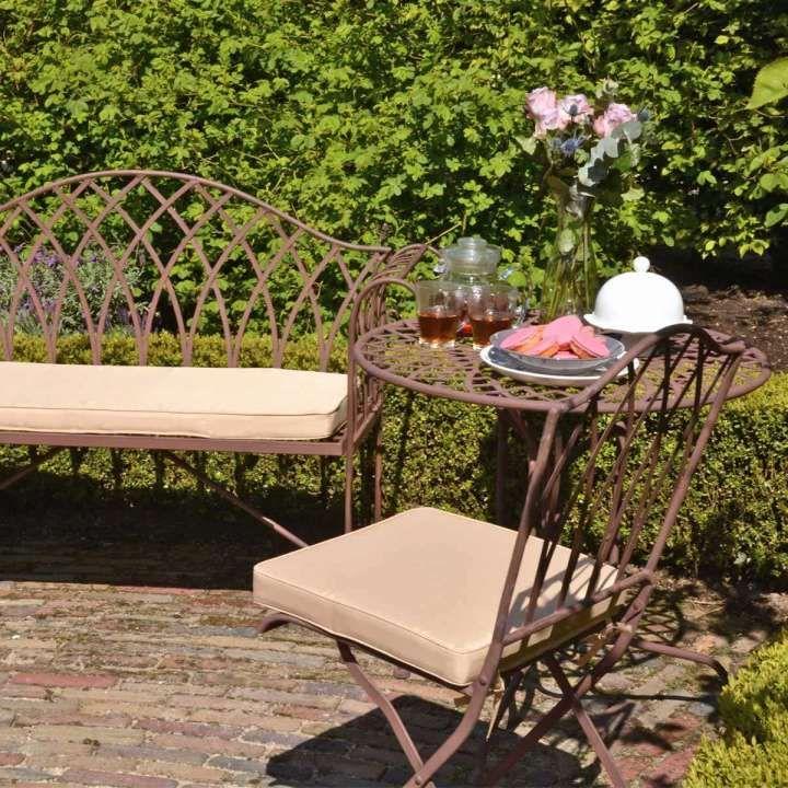 10 Mobilier De Jardin En Fer Forge Meubles Jardin101 Com En 2020 Mobilier Jardin Banquette Jardin Table Salon De Jardin