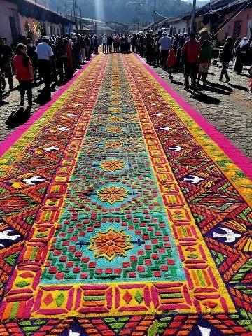Traditional Rug For Holy Week Semana Santa In Guatemala