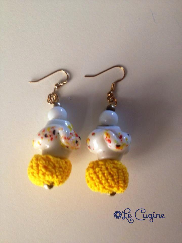Ceramicauncinetto#lecuginecreazioni#crochet#orecchini#handmade