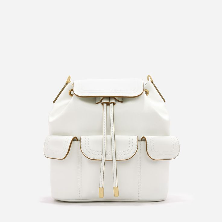 Casual Backpack - White - Shoulder Bag - Bags | CHARLES & KEITH