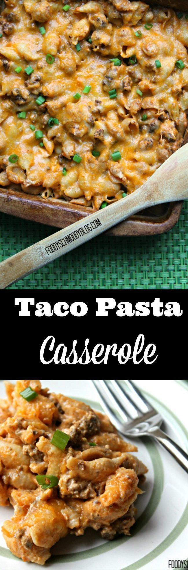 TACO PASTA CASSEROLE - The perfect, family friendly, weekend meal for those nights when you just can't decide between taco night or pasta night!