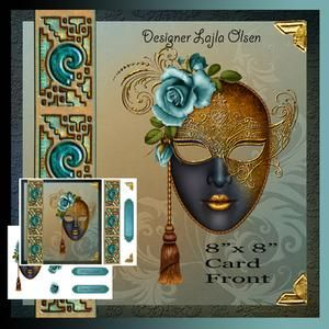 Masquerade Cardfront with Decoupage on Craftsuprint - View Now!