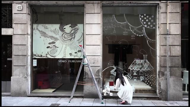 Yoko Furusho: Live in Barcelona by Show Love. JULY 30 & 31 --  Yoko Furusho (www.yokofurusho.com) is a New York based illustrator from Tokyo invited to show her work in traditional Japanese store, Ikiru (www.ikiru.es), located in the heart of the Born neighborhood of Barcelona, Spain. She offered to come in person and do a live painting instead to the utter delight of the store's dynamic press officer Irem and owner Guillermo. What Women Make followed her progress over the course of the…