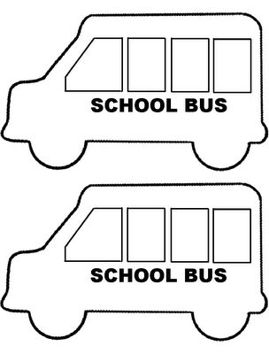 school bus template | Rox's Storytime Resources: School Bus Craft