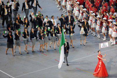 La délégation algérienne aux derniers JO. D. R.