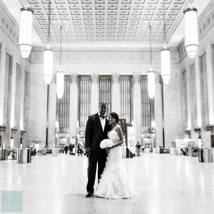 Our venue is connected to 30th Street Station for Art Deco elegance in your wedding day photos #whyilovephilly #realweddings #garcesweddings #phillywedding