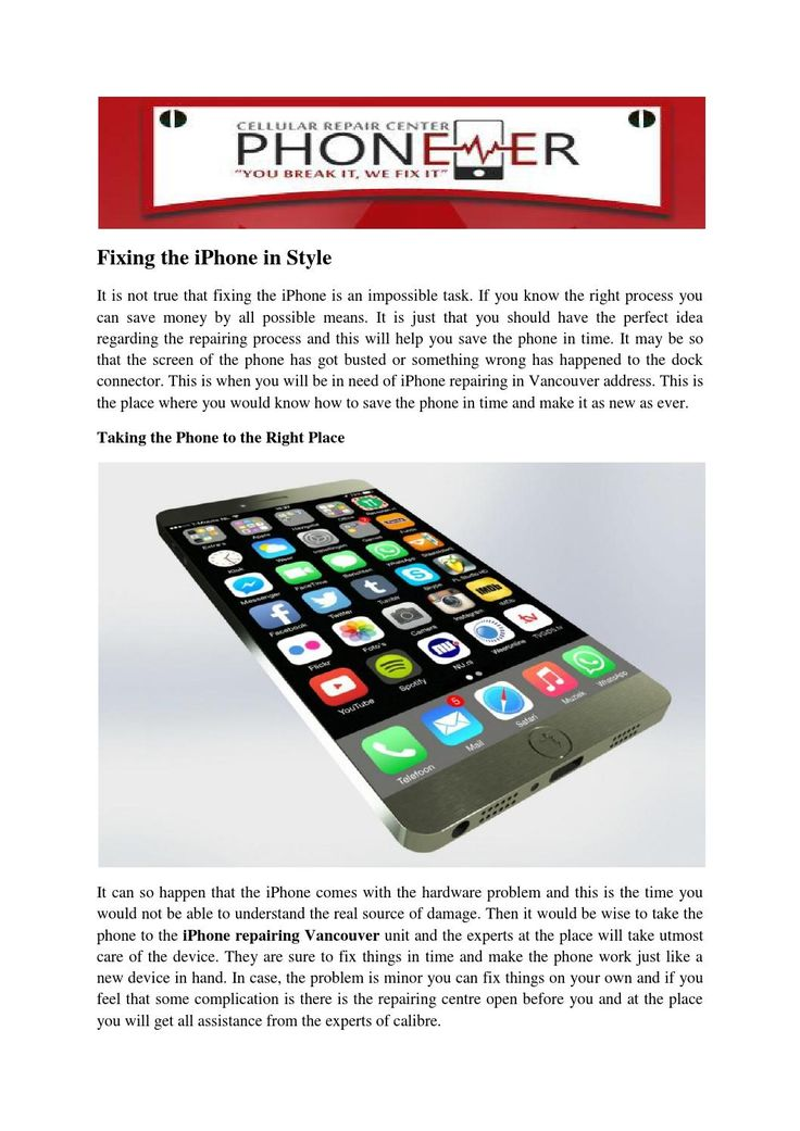IPhone repair — Everything you need to know!   Vancouver Canada  Any problem in your iPhone, iPad, iPod-like Cracked touch screen, Water damage, Charging ports, Home buttons, Microphones and Speakers and much more at Phone-Er  Shop North Vancouver Canada - http://phone-er.ca/northvancouver/