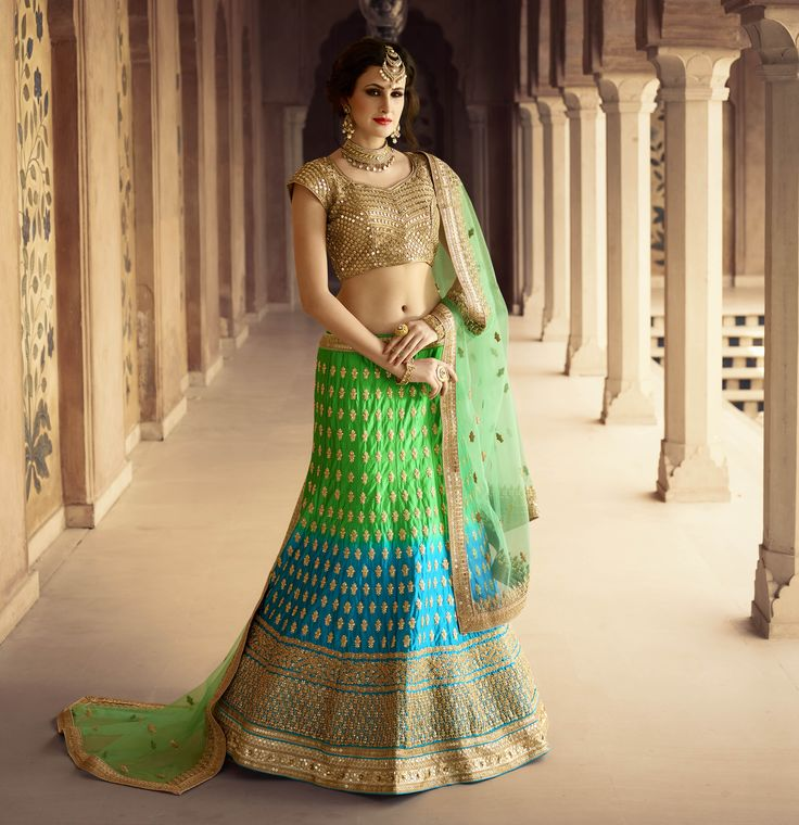 Buy This Green-Rama Satin Heavy Embroidery Designer Bridal Lehenga with Net Blouse. Buy Now:- http://www.lalgulal.com/lehenga-choli/green-rama-satin-heavy-embroidery-designer-bridal-lehenga-with-net-blouse-740 Cash On Delivery & Free Shipping only in India.For Other Query Just Whatsapp Us on +91-9512150402 Or Mail Us at info@lalgulal.com.