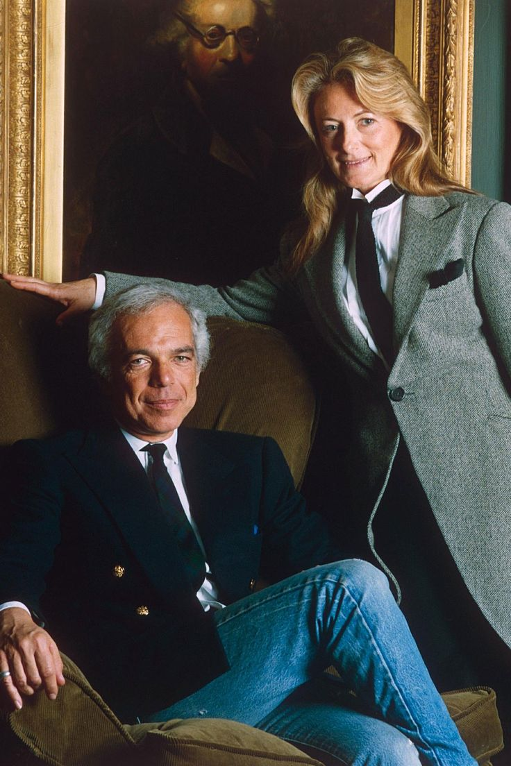Ralph Lauren.  The man and the beautful woman behind the man.