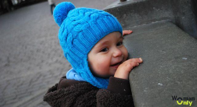 Детская шапочка с ушками спицами: как связать