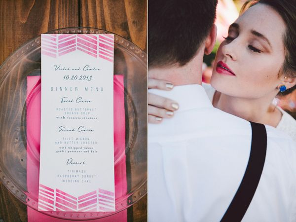 Hot Pink and Blue Wedding Ideas