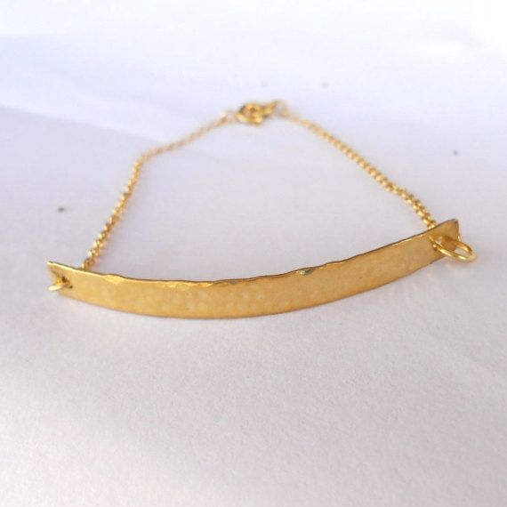 A beautiful gold hammered bracelet made from silver 925 .The perfect gift for your friend,bridesmaids or your girlfriend.