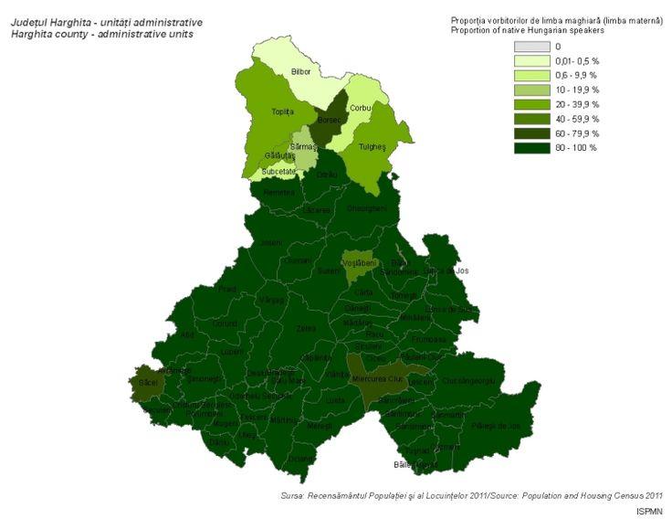 Magyar anyanyelvűek (Hargita megye 2011)