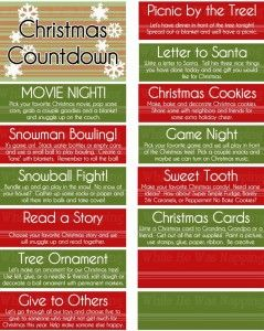 Printable Christmas Countdown Jar. This will save your sanity while the kids are out of school on Winter Break! Perfect Advent Calendar for December and takes up so much LESS space! Win!
