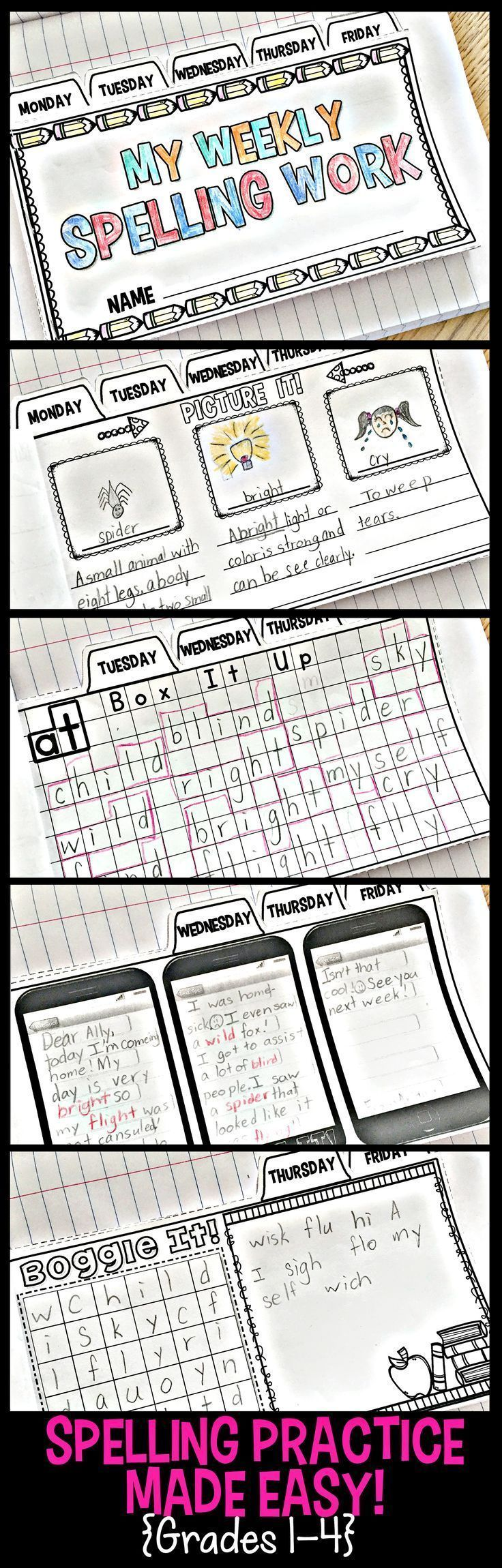 Learning Spelling Words ...How can you make this tedious activity fun and�