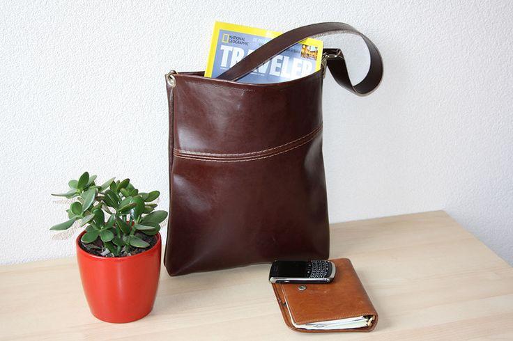 Handgemaakte Tas Leer : Van bank naar tas handgemaakte hergebruikt leer