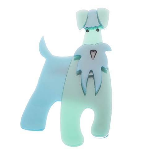 "The schnauzer and Klaus brooch. Yes a table for one please."" The waitress sniffs ""You can't be in here, you're a dog"". Klaus sighs and puffs up his chest ""I'm all man and I don't know why people keep getting confused. I'm sure it must be the moustache!"""