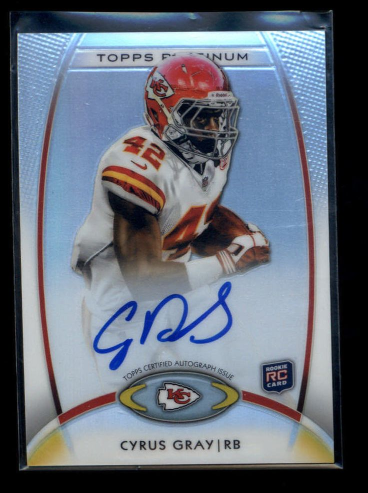 Cyrus Gray  2012 Topps Platinum Football Refractor Autograph #116 RC