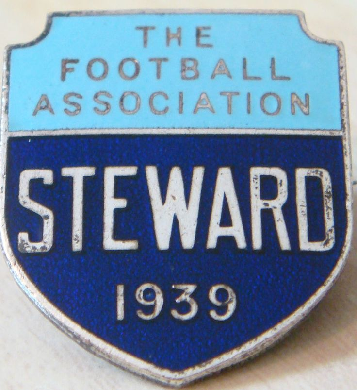 THE FOOTBALL ASSOCIATION 1939 STEWARD Badge Maker FATTORINI & SONS 23mm x…