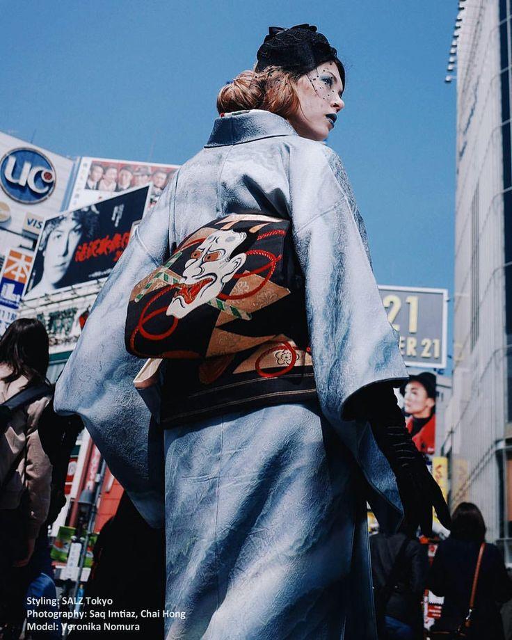 "anji-salz: ""・ ・ - Photography: Saq Imtiaz, Chai Hong - Styling: SALZ Tokyo - Model: @veronikanomura ・ ・ #渋谷スクランブル交差点 #渋谷 #shibuya #vogue #voguemagazine #voguejapan #salztokyo #photoshoot #kimono #japanesekimono #tokyo #japan #東京 #撮影 #和装 #着物コーディネート..."
