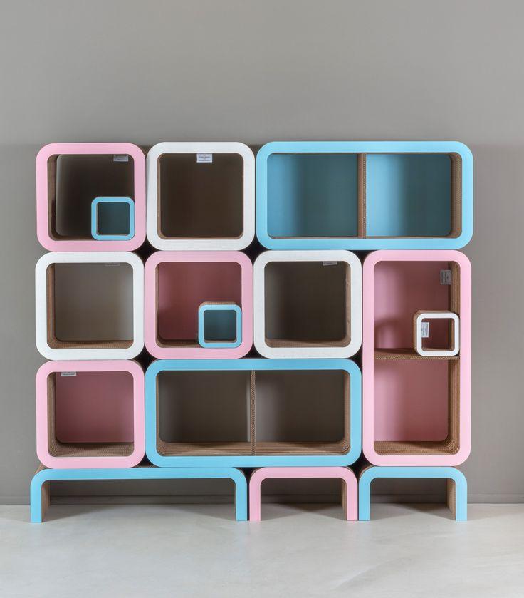 Pink & Light Blue in Moretto library by Lessmore - design Giorgio Caporaso
