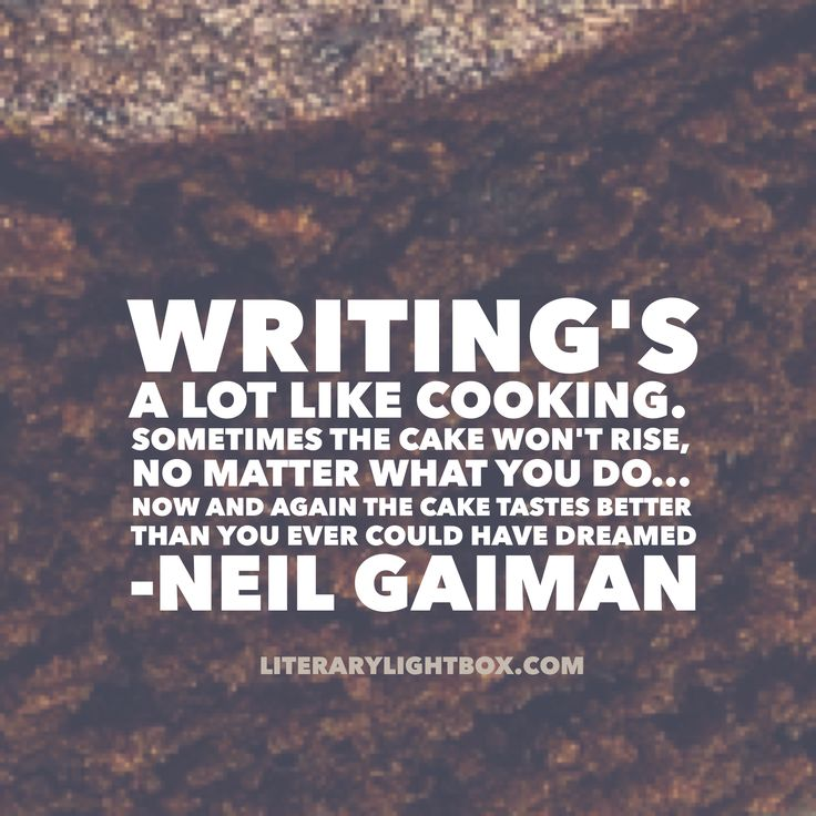 writing is like cooking (dialogue 500) there's nothing like a little home cooking.