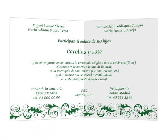 Hojarasca #invitaciones #boda