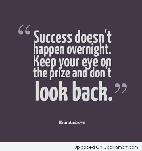 Motivational Quotes About Success: Success Doesn't Happen Overnight. Keep Your Eye On The