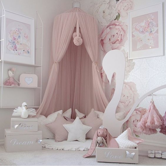 Mosquito Net Baby Mosquito Bed Princess Room Bed Room Baby Room Play Room Home Girl Kid Home Decor Decor Desi Baby Girl Bedroom Baby Room Decor Pink Room