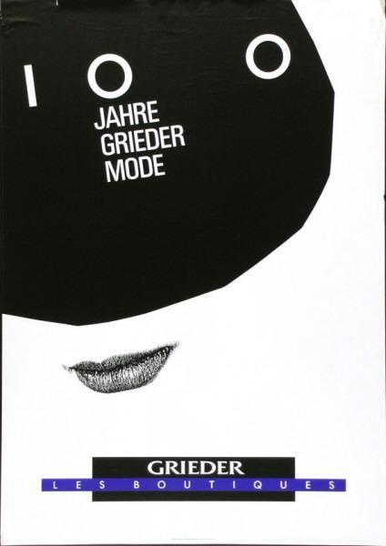 Werner Jeker – 100 Jahre Grieder Mode - Grieder - Les boutiques, 1991