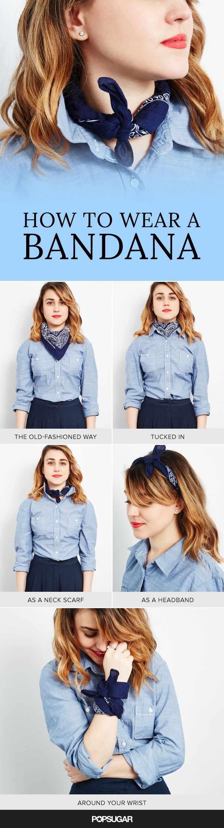 Bandanas add that little something extra and can turn even the simplest outfits into standout ensembles. And with the trend having been spotted on both the Fall 2015 runways and our favorite bloggers, it's probably time to hop on board. Here are all the ways you can wear this surprisingly versatile piece of material.
