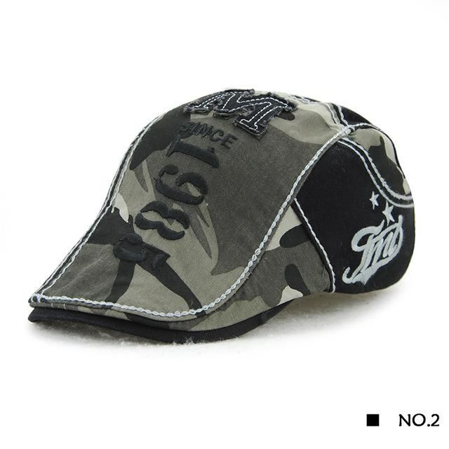 b5f062a999d8 Camouflage Berets Cap Women Summer Outdoor Breathable Hats Solid Sun Hat  Flat Cotton Newsboy Adjustable Caps for Men