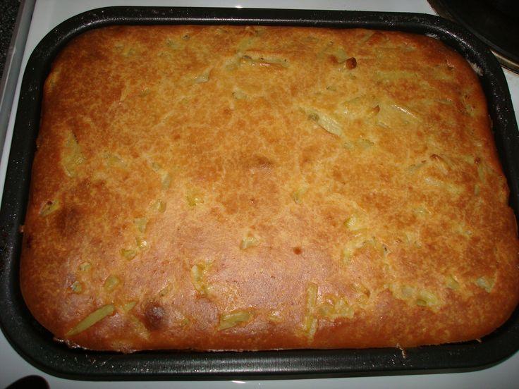 Пирог с сырой картошкой и курицей