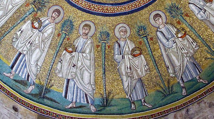 File:Battistero degli ariani, int, mosaico della cupola 07 apostoli.jpg