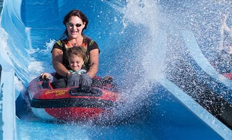 Water slide at Blackgang Chine, Isle of Wight