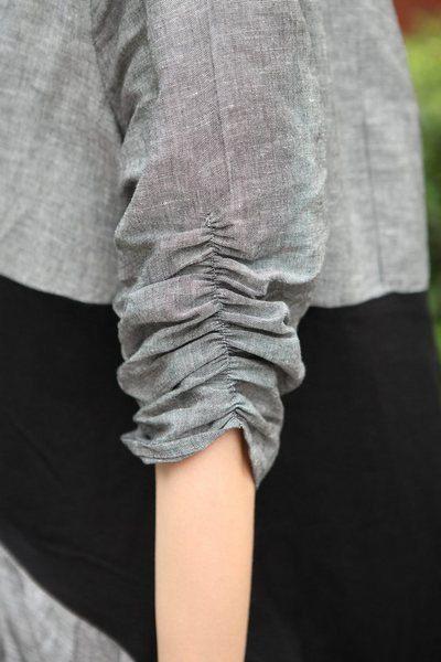Gathered sleeve