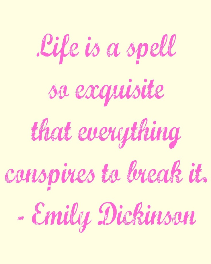 Free printable quote - Emily Dickinson.